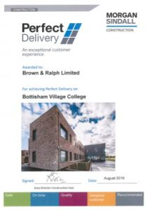 Award for Bottisham College construction