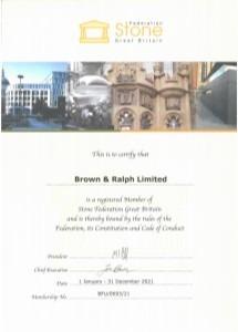 Stone Federation Certificate